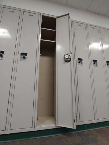 "The lockers at Delta High School are currently filled with emptiness due to the fact that students no longer have lockers. ""I feel frustrated that I don't have a locker because that means that I have to carry all of my stuff in my backpack,"" said Kyle Kincaide."