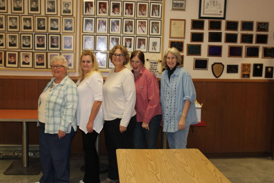 Left to right: Donna Cochran, Marsha Long, Anne Pulley, Gwen Carpenter, and Karen Emmons are all part of the Emblem